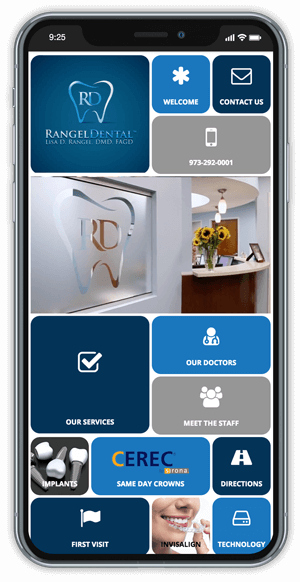 Rangel Dental App on Smartphone